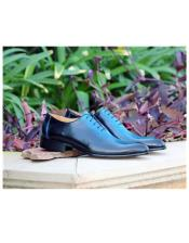 Mens Blue Lace Up Carrucci Shoe