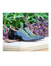 Mens Jade Lace Up Deerskin ~ Calfskin Carrucci Shoe