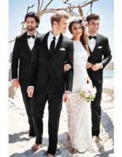 Mens Beach Wedding Attire Suit Menswear Black $199