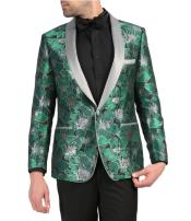 Breasted Shawl Lapel Green