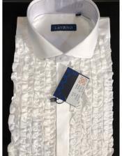 Classic Ruffled Puffy Dress 100% Cotton casual Trendy tuxedo shirt