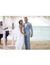 Mens Gray Beach Wedding Attire Menswear
