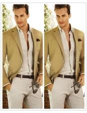 Beach Wedding Attire Suit Menswear Camel $199
