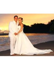 Mens Beach Wedding Attire Suit Menswear White $199