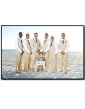 Mens Beige Beach Wedding Attire Suit Menswear