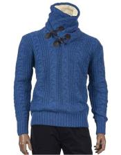 Cobalt Blue Shawl Collar