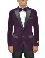 Single Breasted Peak Lapel Eggplant Two Button Mens Fancy Prom Outfit