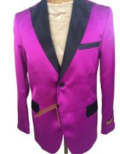 Cheap Priced Designer Fashion Dress Casual Blazer On Sale Dark Pink