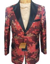 Mens Maroon Two Button Blazer