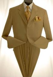 SKU#MUC73 Mens Khaki~Tan ~ Beige Dress lightweight and comfortable cheap discounted Suit