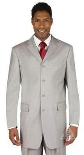 SKU#MUC74 Silver Light Gray Dress Party lightweight and comfortable Suit