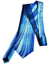 Long Aquamarine Silk Tie