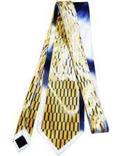 Mens Extra Long Gold Silk Tie