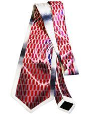 Long Red Silk Tie