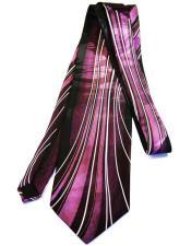 Long Purple Silk Tie