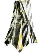 Long Slate Silk Tie