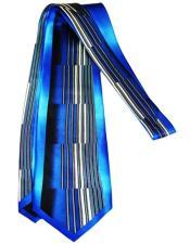 Long Blue Silk Tie