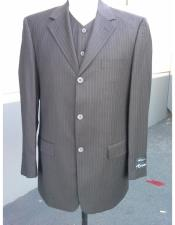 Buttons 100% Wool Cheap Priced Business Suits Clearance Sale Pleated Pants Three Buttons Style High Vest