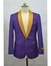 Tuxedo Dinner Jacket Purple & Gold
