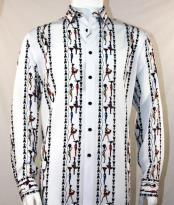 Mens Fashion Full Cut Long Sleeve White Shirt