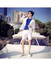 Summer Business Suits With Shorts Pants Set (Sport Coat Looking)