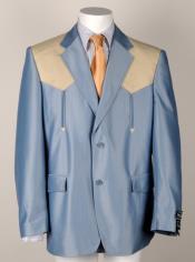 Western Cowboy Suit Traje Vaquero Polyester Suit Set Blue ~ Mango