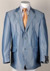 Western Cowboy Suit Traje Vaquero Polyester Suit Set Blue