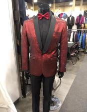 Single Breasted Shawl Label Red Cheap Priced Blazer Jacket For Men