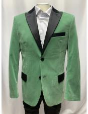 Breasted Sage Mens blazer
