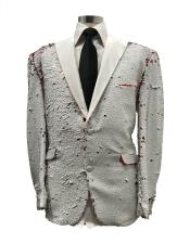 Mens Floral Satin Shiny Fashion Blazer