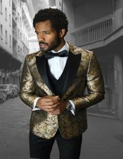 IV Gold 1-Button Peak Tuxedo