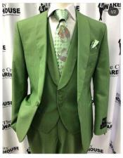 mens green 3 Button suits