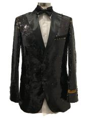 Button Black  Suit