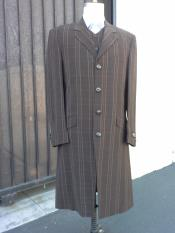 Brown Maxi Zoot Suit Full Length Suit