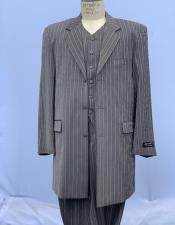 Bold Chalk Stripe Grey Pinstripe Zoot Suit