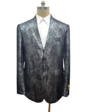 Black Mens Snake Print Jacket for Sale