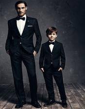 Dad And Son Black Matching wedding outfit Suits Perfect for toddler Suit