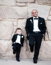 Dad And Son Black Matching Two Button Straight Fit Perfect for toddler