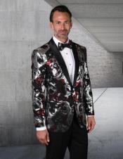and Red Dress Mens suit Comes with Black Pants Black Lapel Jacket and Pants