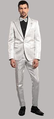 Giovanni TestI White Tuxedo Suit Jacket And Pants