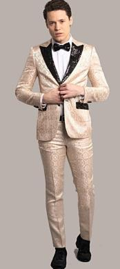 Testi Gold Tuxedo Suit Jacket And Pants