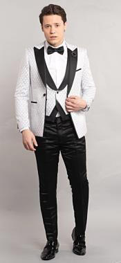 Testi White Tuxedo Suit Jacket And Pants
