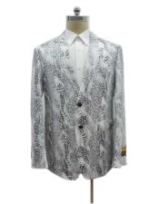 Two Button Exotic White Cheap Priced Designer Fashion Dress Casual Blazer