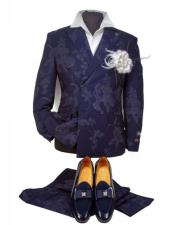Navy Blue Suit Double