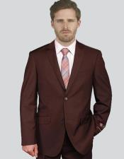 Breasted Notch Lapel Solid