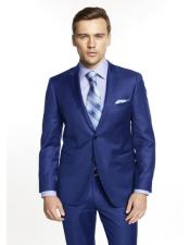 Mens  Solid Blue Suit