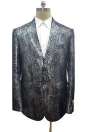 Print Crocodile Gator Snake Skin Ostrich looking Jacket Coat  Big and Tall  Mens Blazer Sport