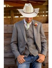 Two Button Single Breasted Cowboy Wedding Suit (jacket & Vest Only)