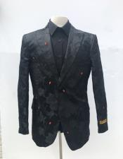Floral themed full black 1 button
