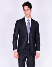 Bertolini Silk & Wool Fabric Suit Solid Gray- High End Suits -